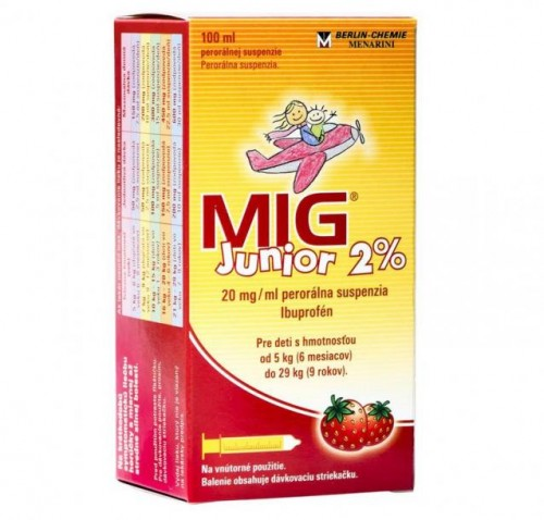 MIG Junior 2% pre deti od 6. mesiacov, 100 ml