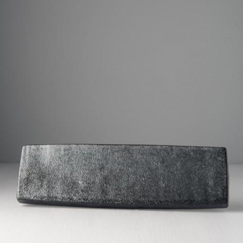 Čierny sashimi tanier CRAFT BLACK 29 x 8 cm