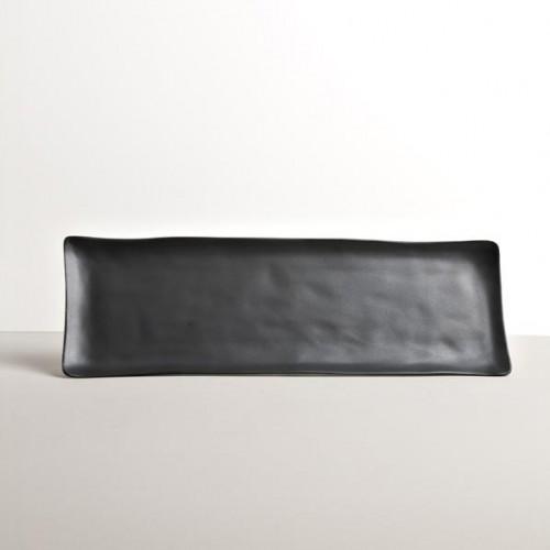 Čierny sashimi tanier MODERN 33x11 cm