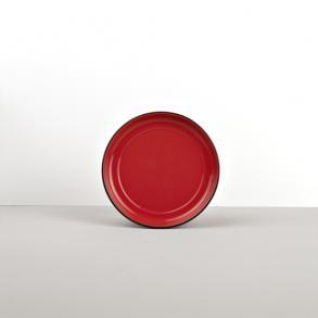 Colourblock keramická podšálka červená