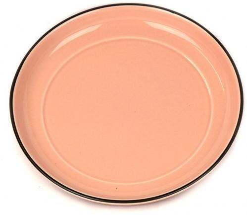 Colourblock keramická podšálka ružová