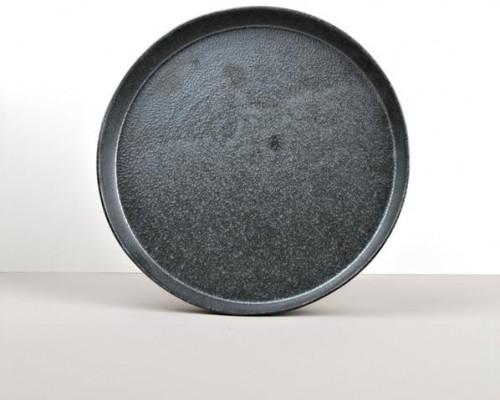 Guľatý tanier s vysokým okrajom CRAFT BLACK 25x3 cm