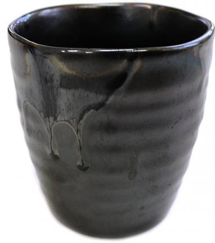 Mug sushi hrnček s nepravidelným okrajom čierna metalíza