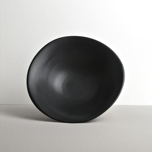 Veľká misa nepravidelný tvar čierna MODERN 24,5 cm