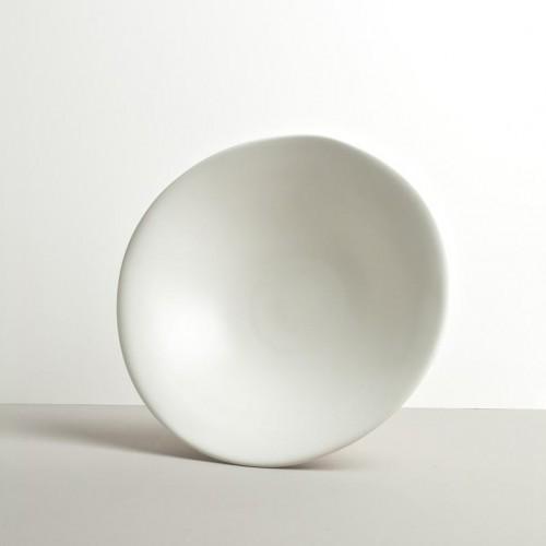 Veľká misa s nepravidelným tvarom biela MODERN 25,5 cm