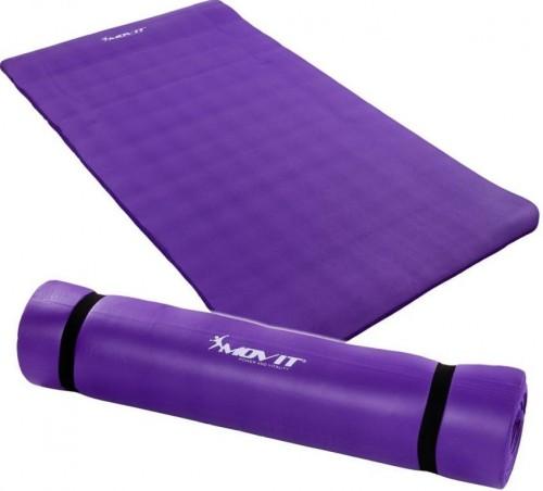 Podložka na jógu MOVIT 190 x 100 x 1,5 cm – fialová