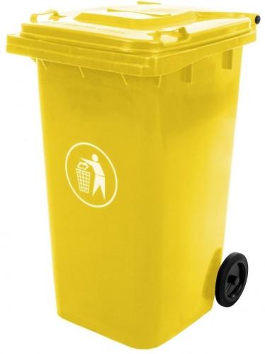 NABBI Mulltonne 240 L popolnica žltá