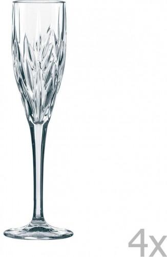 Sada 4 pohárov na sekt z krištáľového skla Nachtmann Imperial Sparkling, 140 ml