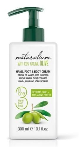 Naturalium Ošetrujúce krém na ruky, nohy a telo s olivovým olejom (Hand, Foot & Body Cream) 300 ml