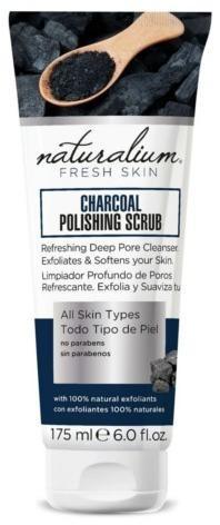 Naturalium Tělo vý peeling drevené uhlie ( Charcoal Polishing Scrub) 175 ml
