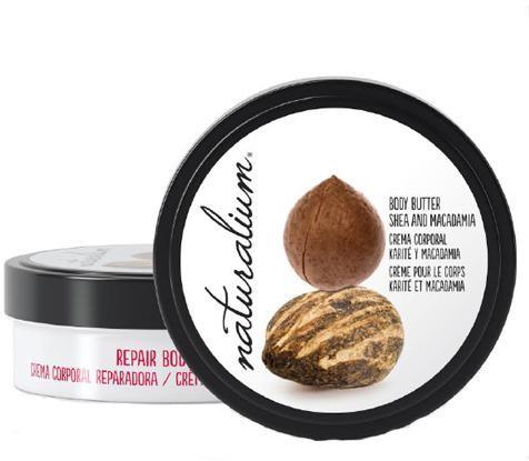 Naturalium Tělové maslo s výťažkom z karité a makadamiovým orechom (Repair Body Butter Shea & Macadamia) 200 ml