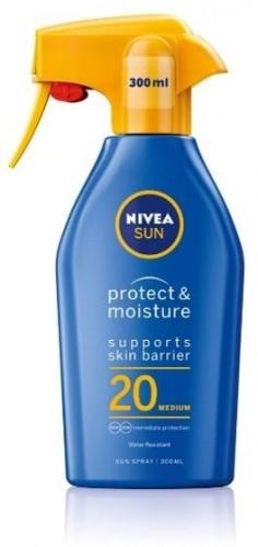 Nivea Hydratačný sprej na opaľovanie SPF20 (Sun Spray) 300 ml