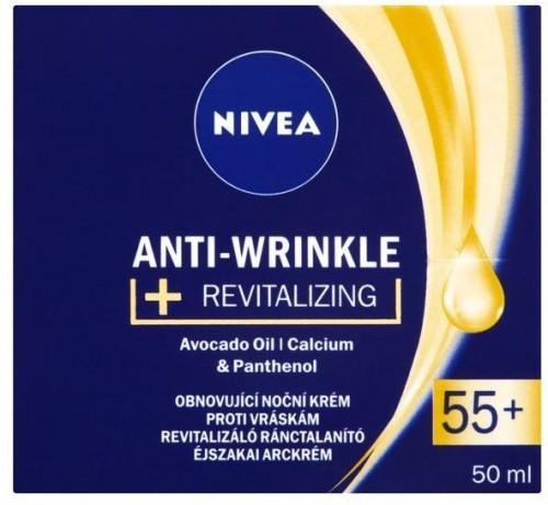 Nivea Obnovujúci nočný krém proti vráskam 55+ ( Anti-Wrinkle + Revitalizing) 50 ml