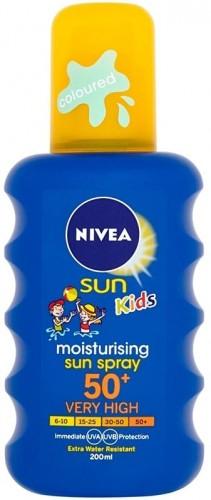 Nivea Sun Kids detský farebný sprej na opaľovanie SPF 50