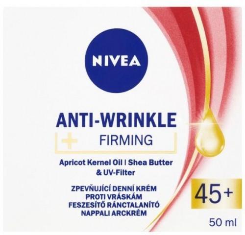 Nivea Zpevňující denný krém proti vráskam 45+ ( Anti-Wrinkle + Firming ) 50 ml