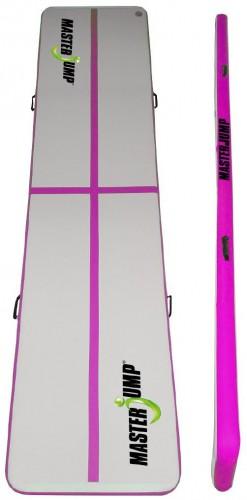 Airtrack MASTERJUMP nafukovacia žinenka 200 x 100 x 10 cm - ružová