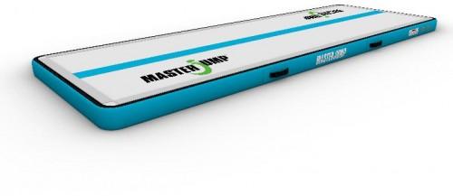 Airtrack MASTERJUMP nafukovacia žinenka 300 x 100 x 10 cm -sivo-modrozelená