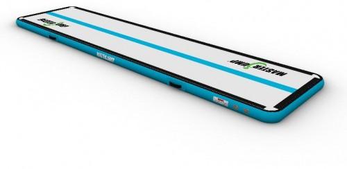 Airtrack MASTERJUMP nafukovacia žinenka 400 x 150 x 10 cm - sivo-modrozelená