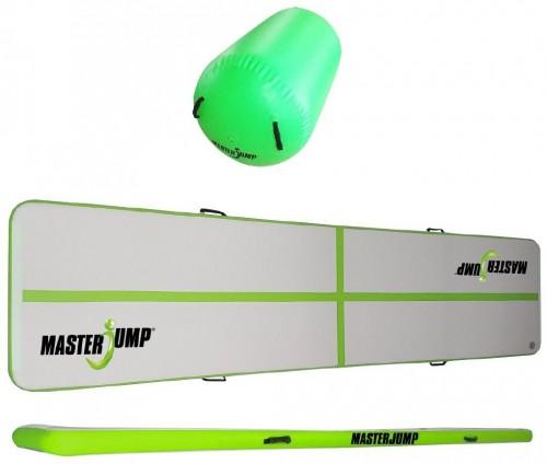 Akčný set - Airroller a Airtrack MASTERJUMP 400 x 100 x 10 cm - zelený