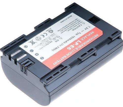 Batéria T6 power Canon LP-E6, 1620mAh, šedá DCCA0017