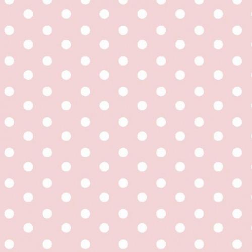 Bavlnená látka Dots light rose