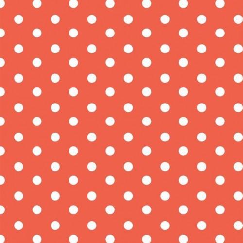 Bavlnená látka Dots orange