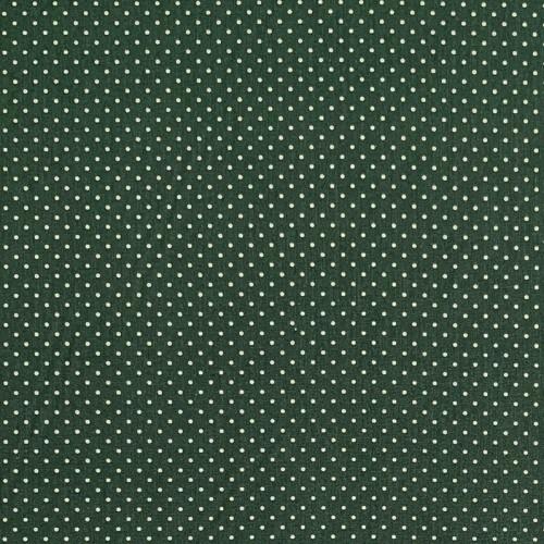 Bavlnená látka Petit dots dark green