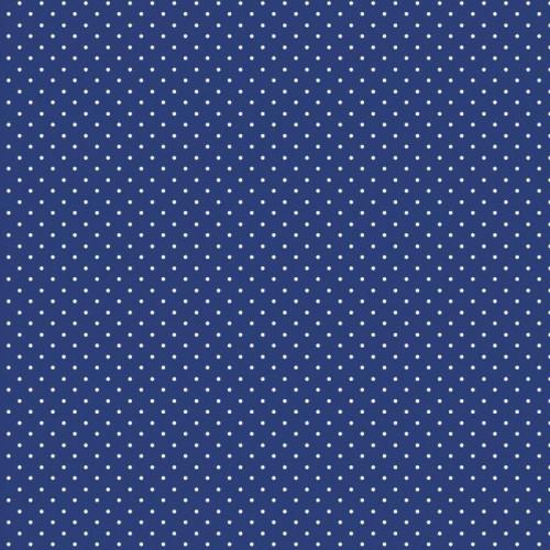 Bavlnená látka Petit dots kobalt