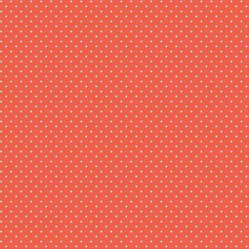 Bavlnená látka Petit dots orange