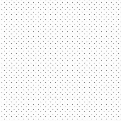 Bavlnená látka Petit dots white/grey