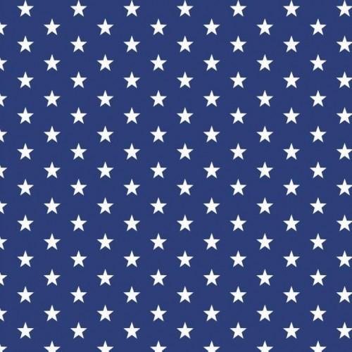 Bavlnená látka Petit stars kobalt