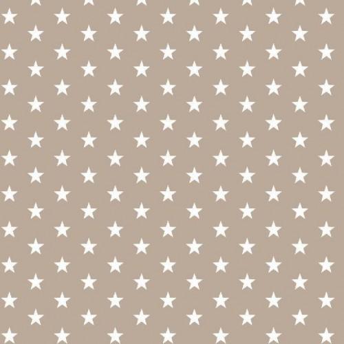 Bavlnená látka Petit stars sand