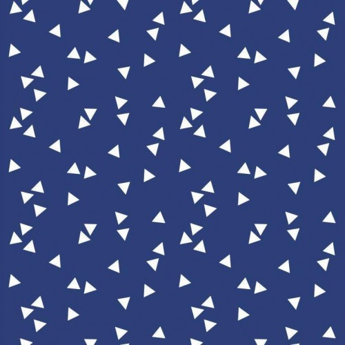 Bavlnená látka Triangle kobalt