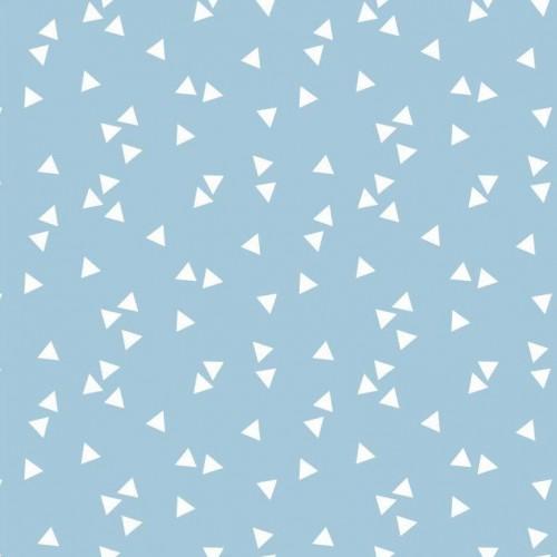 Bavlnená látka Triangle light blue