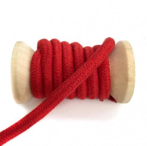 Bavlnená šnúra 10 mm red