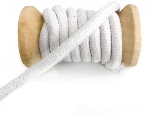 Bavlnená šnúra 10 mm white