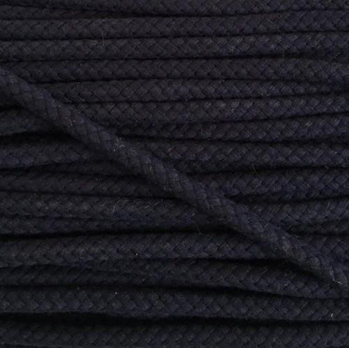 Bavlnená šnúra 8 mm dark blue