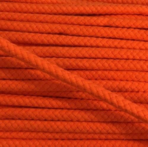 Bavlnená šnúra 8 mm orange