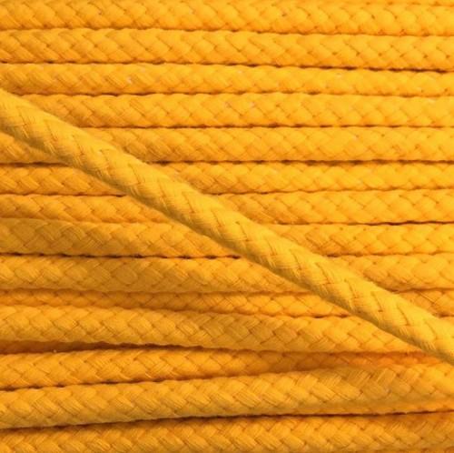 Bavlnená šnúra 8 mm yellow