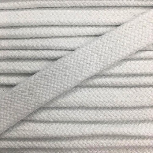 Bavlnená šnúra plochá 17 mm biela