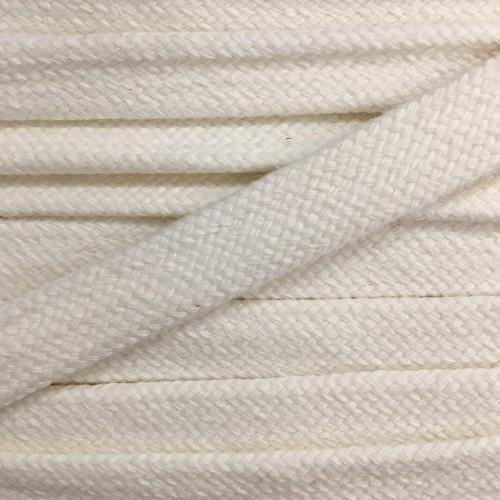 Bavlnená šnúra plochá 17 mm krémová