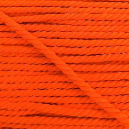 Bavlnená šnúra točená 5 mm neon orange