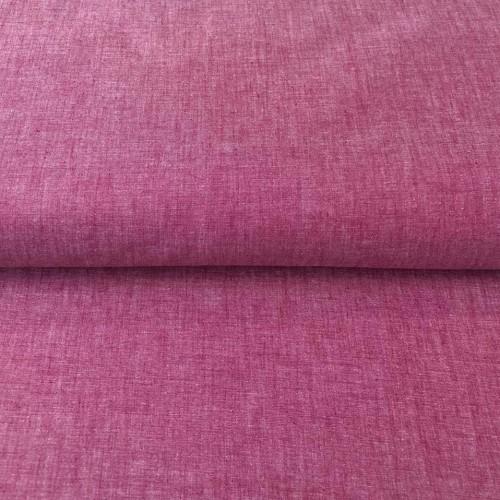 Bavlnený popelín Yarn dyed berry