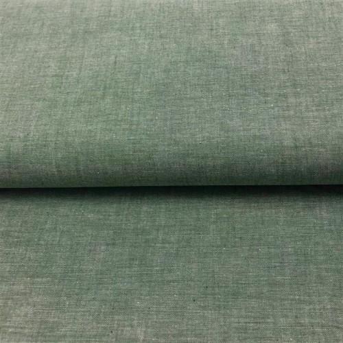 Bavlnený popelín Yarn dyed dark green