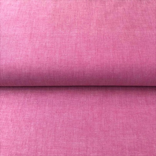 Bavlnený popelín Yarn dyed fuchsia