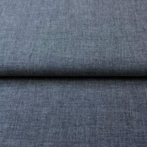 Bavlnený popelín Yarn dyed navy