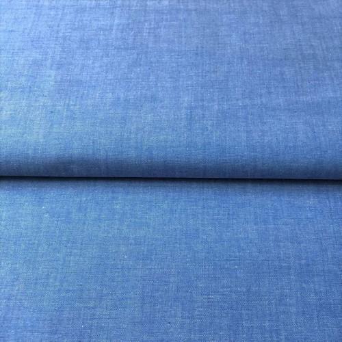 Bavlnený popelín Yarn dyed sky