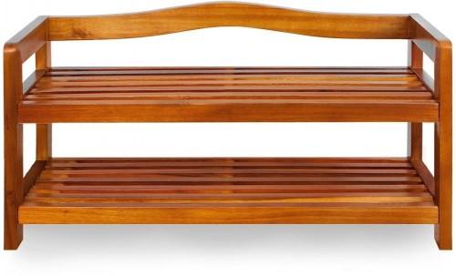 Botník z agátového dreva D5378 Dekorhome