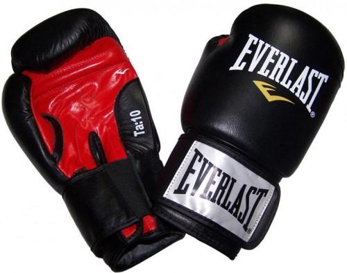 Boxerské kožené rukavice EVERLAST Moulded Ergo čierne 10oz.