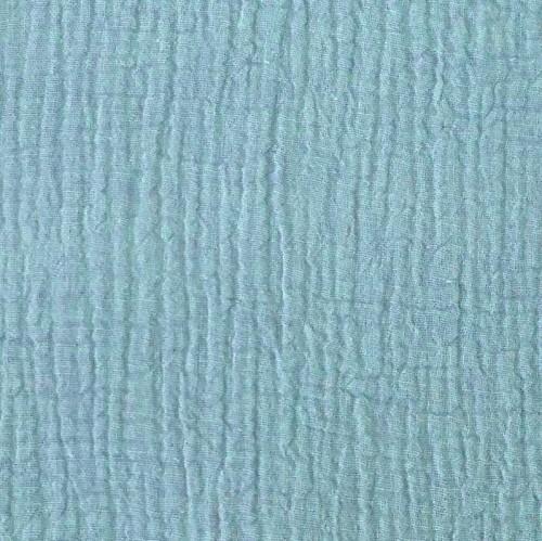 Dvojitá gázovina/mušelín light blue